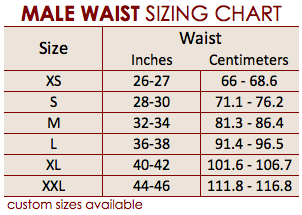 waist size chart for men: 3 9005 male abdominoplasty garment caromed compression garments