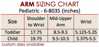 Size Chart Arm Pediatric