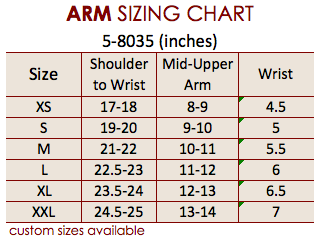 IMPORTANT: If your 2 measurements are falling into 2 different size categories, then follow these 2 suggestions:: If your Main Knuckles measure a MEDIUM, but your forearm measures a LARGE. It's best to order the MEDIUM because the leather around the forearm will stretch after a few uses.