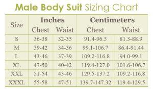 Male Bodysuit Chart