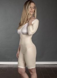 SC-260 Sculptures Above the Knee Body Shaper with Sleeves